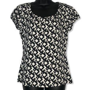 Worthington Stretch Blouse with Cap Sleeves
